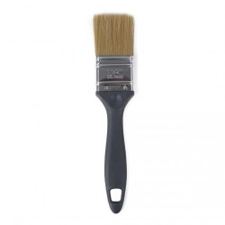 """Besi & Logam #ESF15 1½"""" (38.1MM) Paint Brush (100% Synthetic Filament) with Stainless Steel Ferrule & Plastic Handle"""