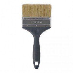 """Besi & Logam #ESF40 4"""" (101.6MM) Paint Brush (100% Synthetic Filament) with Stainless Steel Ferrule & Plastic Handle"""